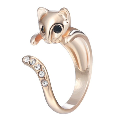Free Beautiful Diamond Cat Animal Vintage Ring