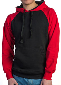 Premium Heavyweight Pullover Hoodie Black/Red