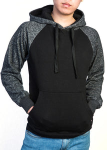 Premium Heavyweight Pullover Hoodie Black/Grey