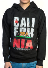 Premium Heavyweight Pullover Hoodie California Republic Black