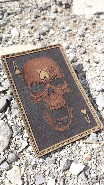 "HANK (HD Etched) 3""x2"" Ace of Spades Death Patch"