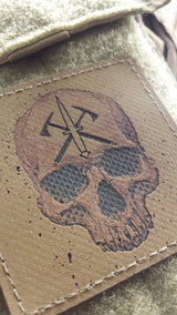 "HANK (HD Etched) 3""x3"" Dagger / Tomahawk / Reaper Patch"