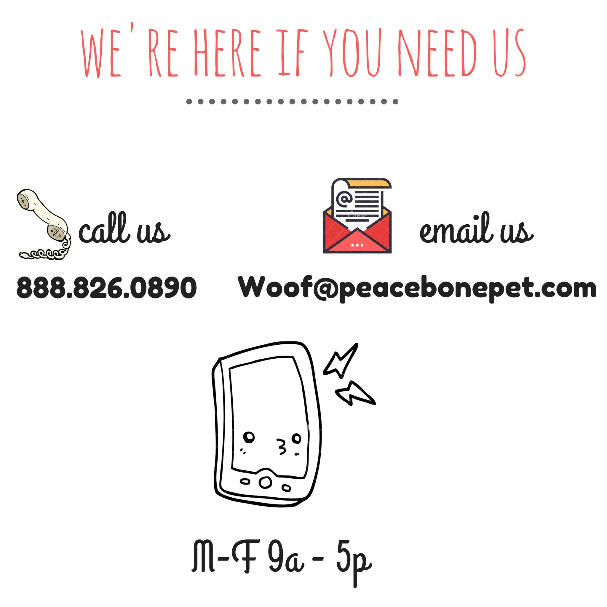 Talk to us | Peacebonepet.com