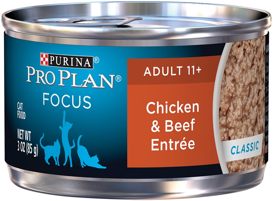 Purina Pro Plan Focus Senior Cat 11 + Chicken & Beef Entree Canned Cat Food
