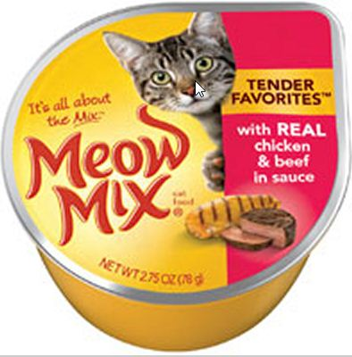 Meow Mix Tender Favorites Real Chicken and Beef in Gravy Cat Food Cups