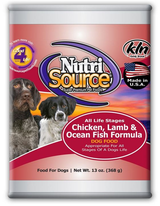 NutriSource Adult Chicken, Lamb & Ocean Fish Canned Dog Food
