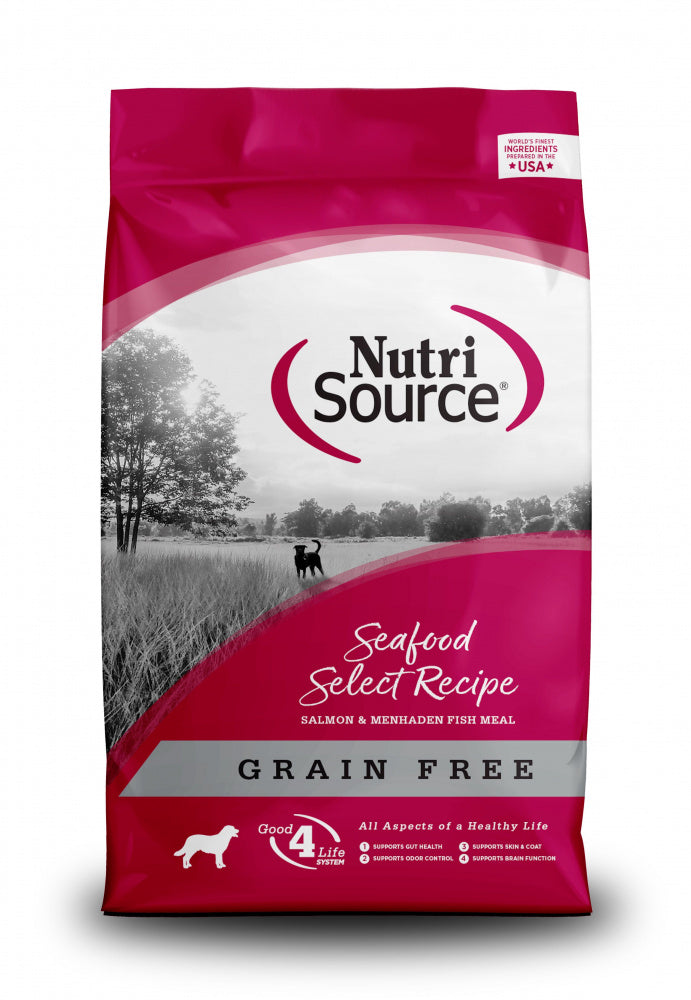 NutriSource Grain Free Seafood Select with Salmon Dry Dog Food