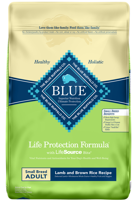 Blue Buffalo Life Protection Small Breed Adult Lamb and Brown Rice Recipe Dry Dog Food - Blue Buffalo | Peacebone
