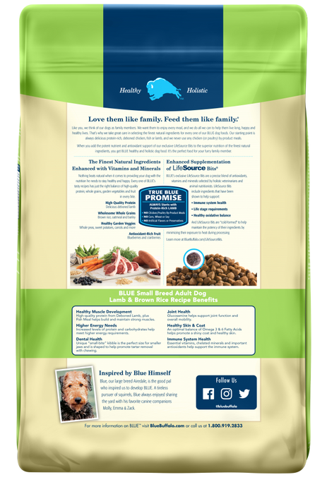 Blue Buffalo Life Protection Small Breed Adult Lamb and Brown Rice Recipe Dry Dog Food