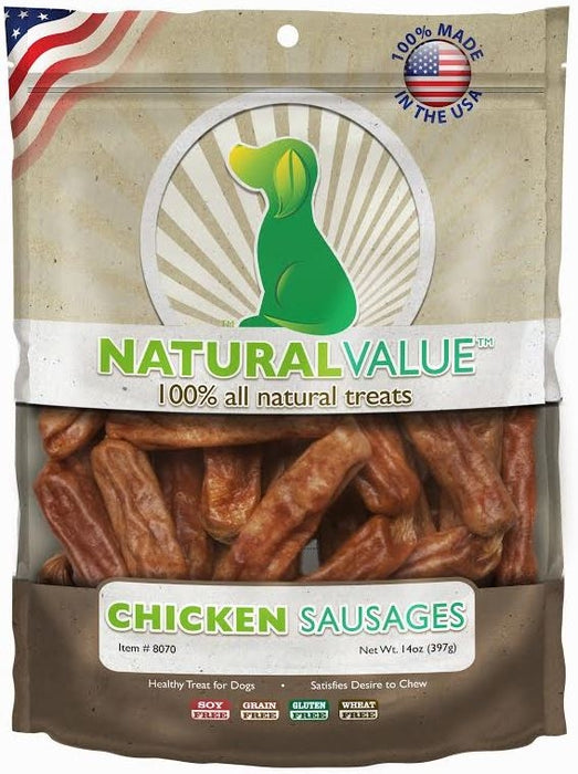 Loving Pets Natural Value Chicken Sausages Dog Treats - Loving Pets | Peacebone