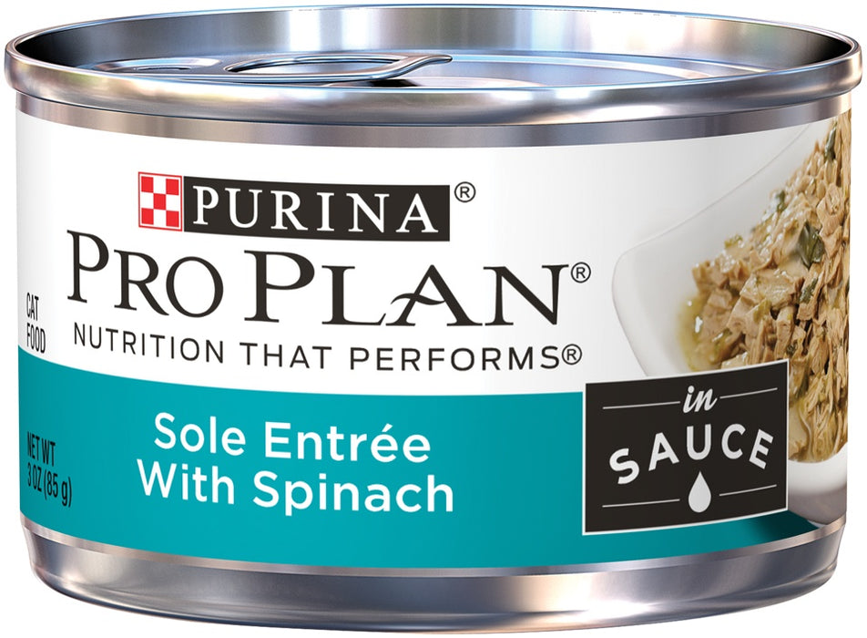 Purina Pro Plan Savor Adult Sole Entree with Spinach Braised in Sauce Canned Cat Food