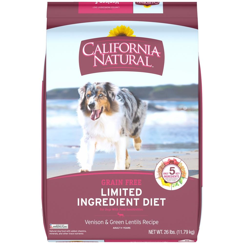 California Natural Limited Ingredient Diet Grain Free Venison and Green Lentils Dry Dog Food - California Natural | Peacebone