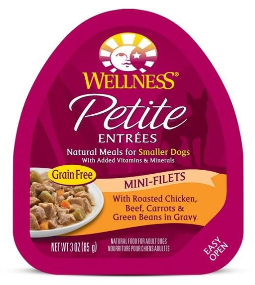 Wellness Petite Entrees Mini-Filets Grain Free Natural Roasted Chicken and Beef Recipe Wet Dog Food - Wellness | Peacebone