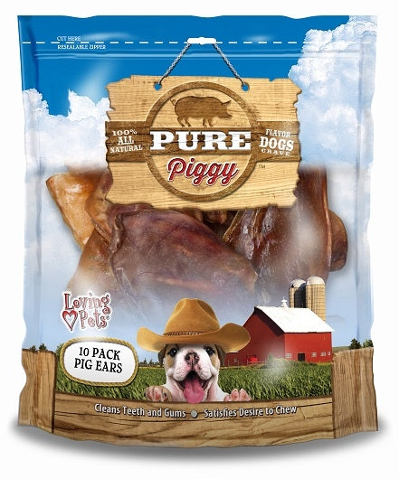 Loving Pets Pure Piggy Pig Ears