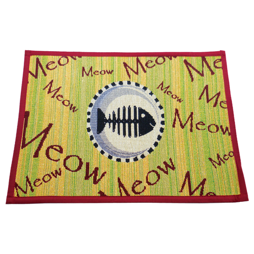 Arlee Pet Products Meow Meow Tapestry Bowl Mat - Arlee Pet Products | Peacebone