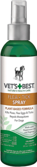 Vet's Best Flea and Tick Spray for Dogs and Cats - Vet's Best | Peacebone