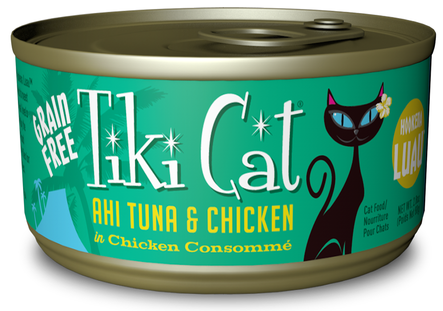 Tiki Cat Hookena Luau Grain Free Ahi Tuna And Chicken In Chicken Consomme Canned Cat Food - Tiki Cat | Peacebone