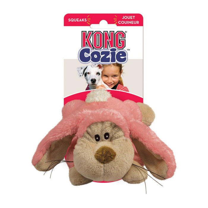 KONG Floppy Rabbit Medium Cozie Plush Dog Toys