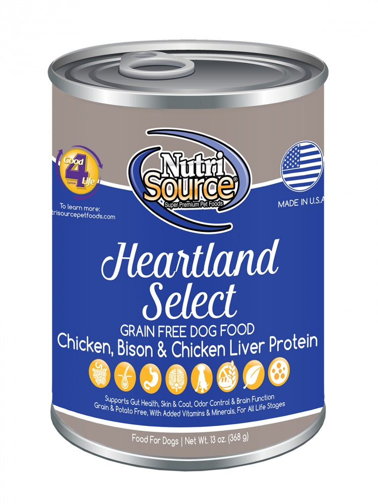 NutriSource Grain Free Heartland Select Formula Canned Dog Food - NutriSource | Peacebone
