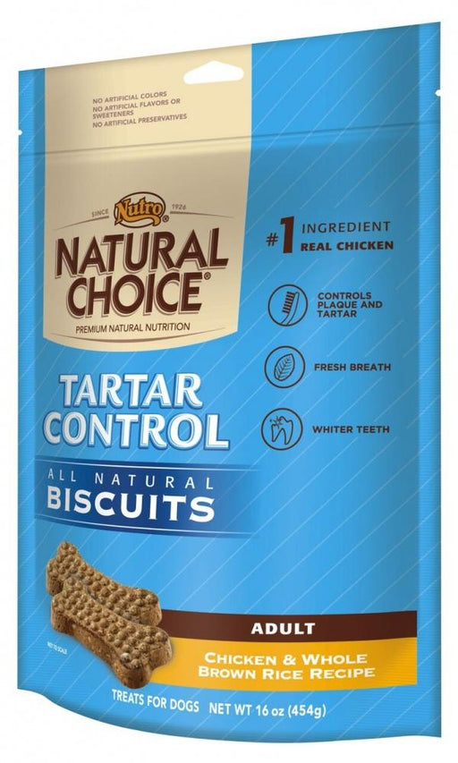 Nutro Natural Choice Adult Tartar Control Dog Biscuits Chicken and Whole Brown Rice Dog Treats - Nutro | Peacebone