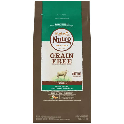 NUTRO Adult Grain Free Pasture-Fed Lamb, Lentils and Sweet Potato Recipe Dry Dog Food - Nutro | Peacebone