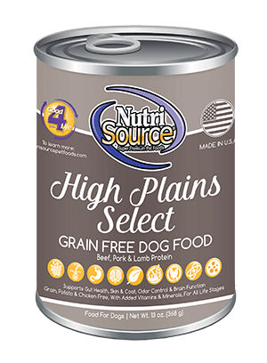 NutriSource Grain Free High Plains Select Canned Dog Food