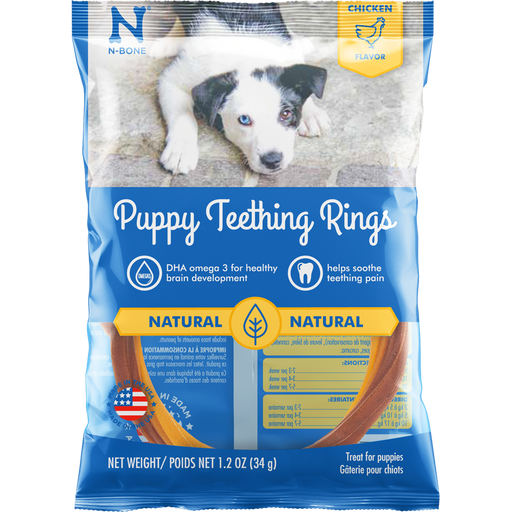 N-Bone Puppy Teething Rings Chicken Flavor Dog Treats - N-Bone | Peacebone
