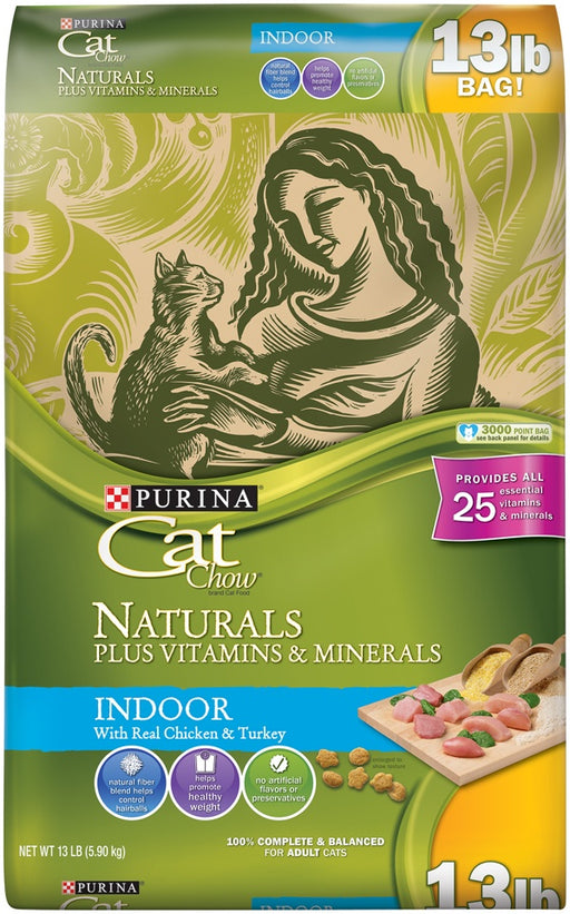 Purina Cat Chow Naturals Indoor Plus Vitamins & Minerals Dry Cat Food