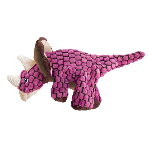 KONG Dynos Triceratops Plush Dog Toy