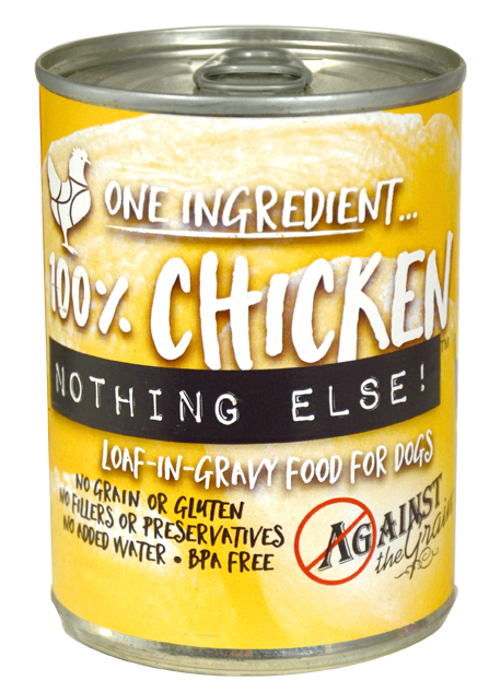 Against the Grain Nothing Else Grain Free One Ingredient 100% Chicken Canned Dog Food - Against the Grain | Peacebone