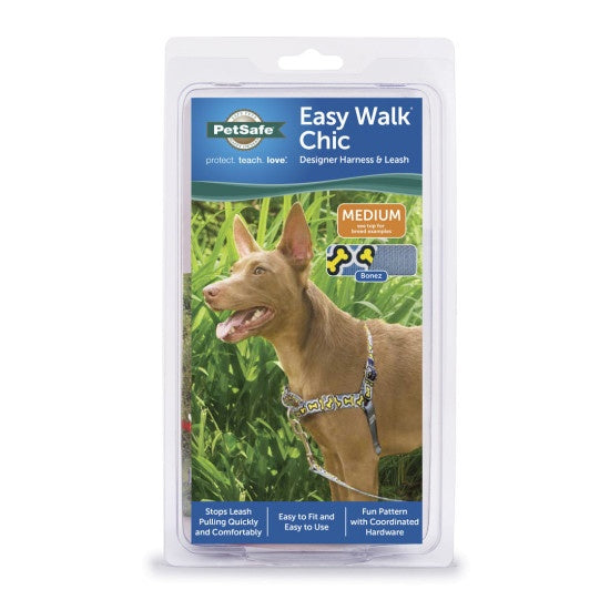 PetSafe Easy Walk Chic Bonez Dog Harness & Leash