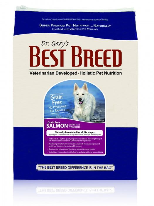 Dr. Gary's Best Breed Grain Free Holistic Salmon with Fruits & Vegetables Dry Dog Food - Dr. Gary's Best Breed | Peacebone