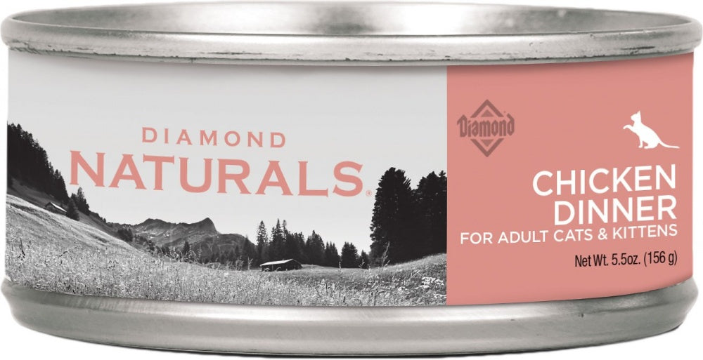 Diamond Naturals Chicken Dinner Adult & Kitten Formula Canned Cat Food - Diamond | Peacebone