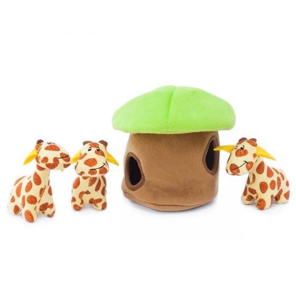 ZippyPaws Zippy Burrow Giraffe Lodge Puzzle Dog Toy - ZippyPaws | Peacebone