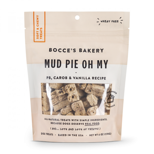 Bocce's Bakery Every Day Mud Pie Oh My Soft & Chewy Dog Treats