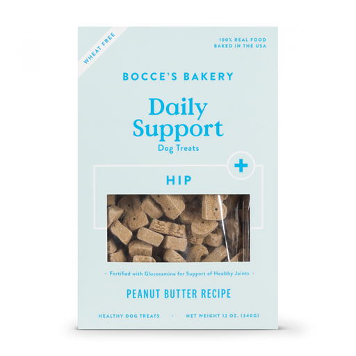 Bocce's Bakery Daily Support Peanut Butter Recipe Functional Hip & Joints Biscuit Dog Treats