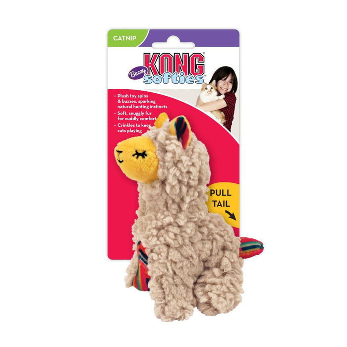 KONG Softies Buzzy Llama Cat Toy