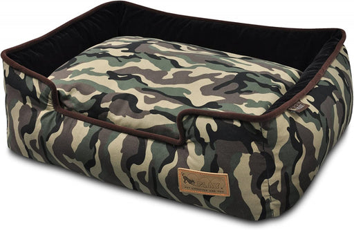 P.L.A.Y. Lounge Bed Camouflage Army Green & Chocolate