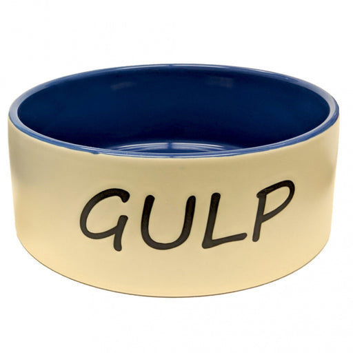 Ethical Gulp Tan & Blue Dog Dish