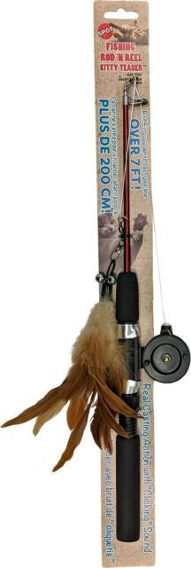 Ethical Pet Fishing Rod n Reel Kitty Teaser