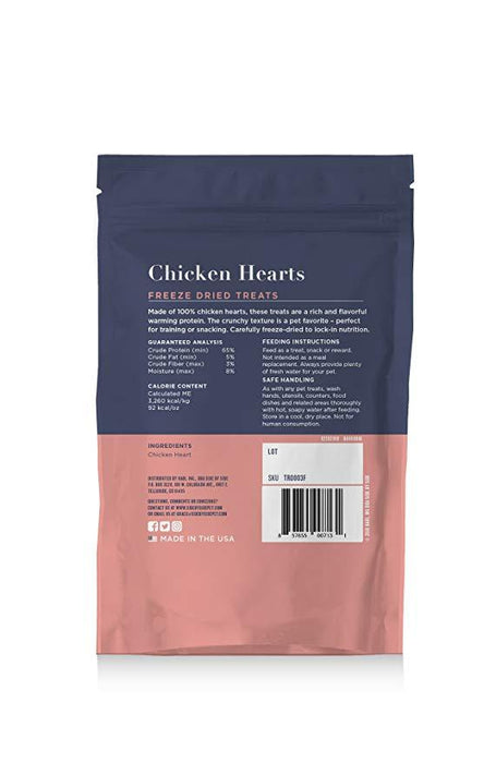 Side By Side Small Batch Freeze Dried Chicken Hearts Warming Recipe Dog Treats