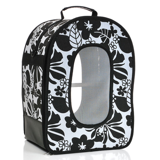 A & E Happy Beaks The Voyager Black Soft Sided Bird Carrier