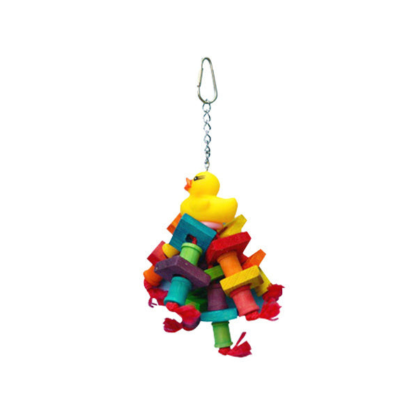 A & E Happy Beaks Rubber Duck Monster Bird Cage Accessory