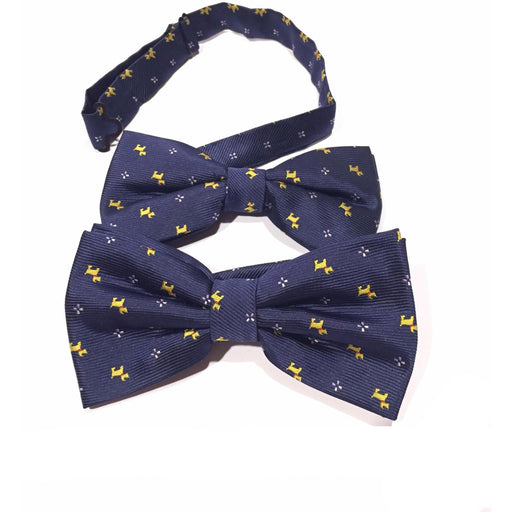 Peacebone Human and Dog Matching Bow Tie Set Navy