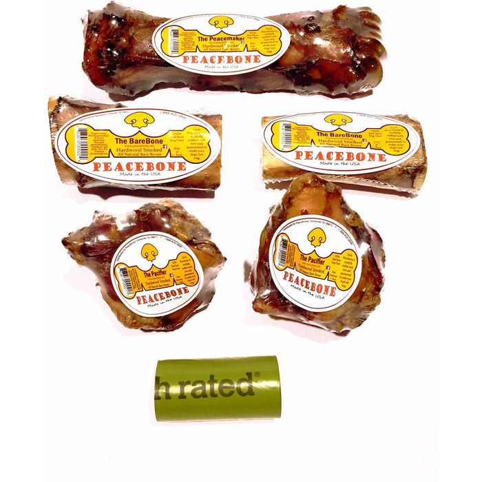 The Peace Pack - Peacebone's All Natural Smoked Beef Bone Pack