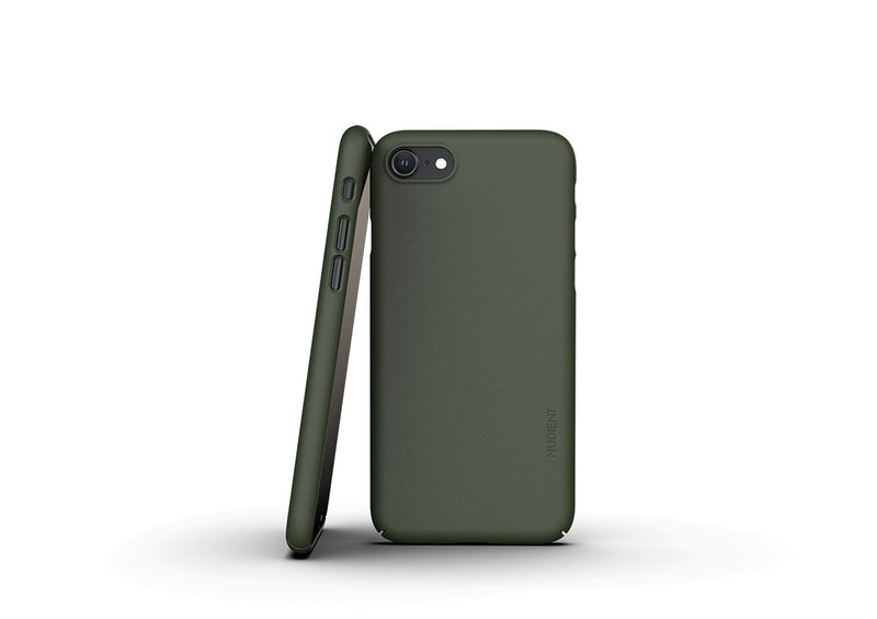 Nudient - Thin iPhone 7/8/SE Case V3 - Pine Green