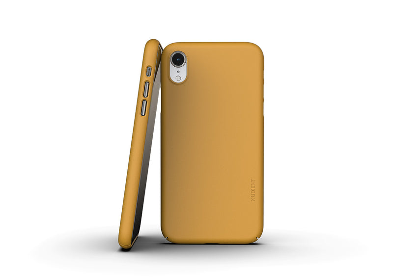 Nudient - Thin iPhone XR Case V3 - Saffron Yellow