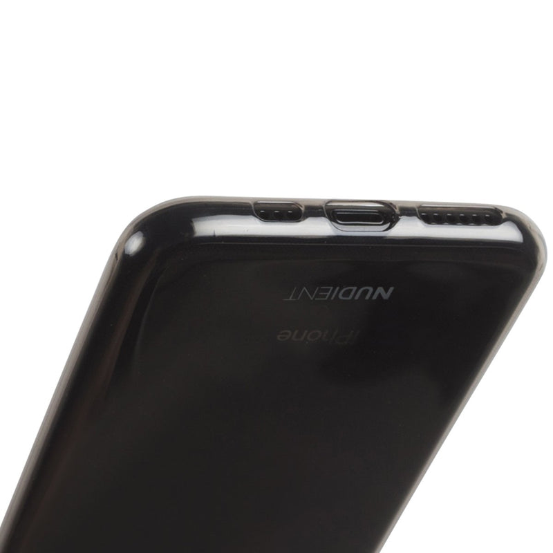Thin glossy iPhone 11 6,1 (XR) case  - Black Transparent