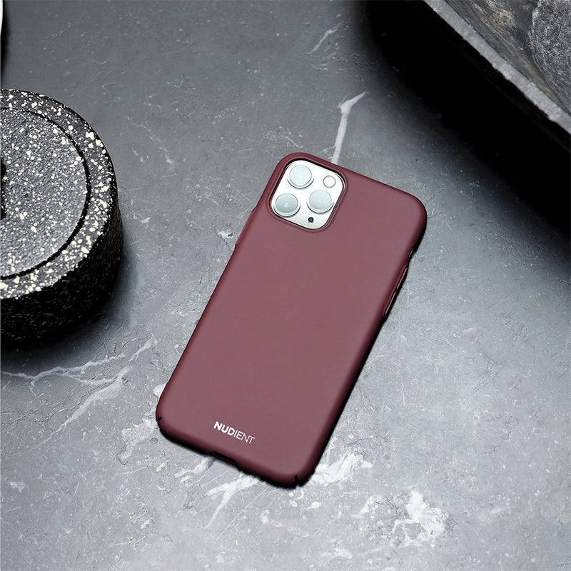 "Thin iPhone 11 6,1"" Case V2 - Sangria Red"