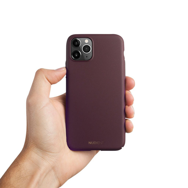 Thin iPhone 11 Pro Max 6,5 Case V2 - Sangria Red